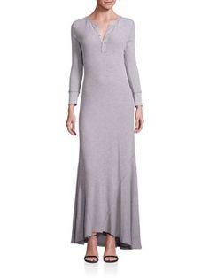 POLO RALPH LAUREN Henley Maxi Dress. #poloralphlauren #cloth #dress