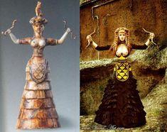 la moda cretenses era muy sofisticada   se podría decir que ellos dieron la moda refinada a la actualidad