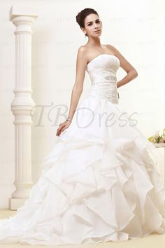 Gorgeous Strapless A-Line Tiered Gown (Style: 09685099) $267 at TBDress.com