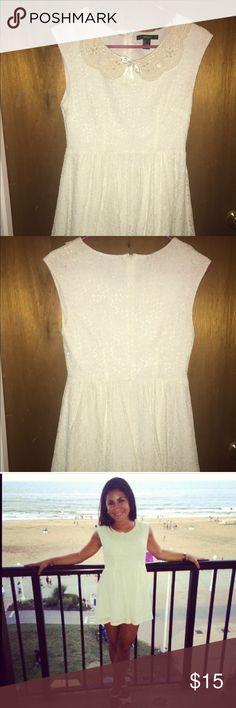 White dress Really short white lacy dress, worn once Forever 21 Dresses Mini