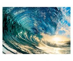 Be careful not to get caught in the crush of Ideal Decor The Perfect Wave Wall Mural . This eight-panel realistic wave wall mural is stunning in jeweled. Large Wall Murals, Forest Road, Vintage Surf, Tropical Beaches, City Landscape, Home Wallpaper, Fabric Wallpaper, Nature Wallpaper, Coastal Style