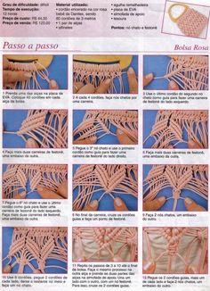 Criando Artes - Gráficos: Macramê_Bolsa Rosa