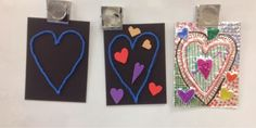 Mrs. Knight's Smartest Artists: Relief Sculpture Hearts, 1st grade