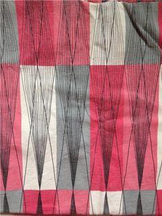 Retro tyg 50 60 70 tal gardiner textil på Tradera.com - Gardiner och