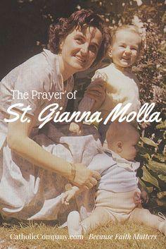 Gianna Beretta Molla: A Modern Mother's Heroism Catholic Prayer For Healing, Catholic Prayers, Catholic Art, Catholic Saints, Roman Catholic, Catholic Religion, The Joys Of Motherhood, Catholic Company, Prayers For Children