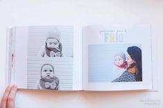 Por fin conseguí acabar el libro del primer año de Olivia con las fotos de sus primeros 12 meses, todo un recuerdo del primer año de vida de un bebé.