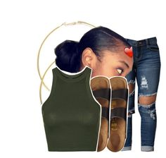 """"""""""" by ayeeitsdessa ❤ liked on Polyvore featuring Birkenstock and Topshop"""