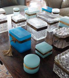 Antique Opaline Boxes