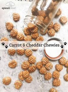 Carrot And Cheddar Chewies Homemade Dog Treats Recipe Dog
