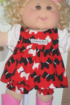 SWEET OUTFIT SUITABLE FOR  CABBAGE PATCH DOLL 14 INCH HIGH