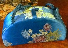 Adorable vintage Asian floral satin evening bag, currently listed on Etsy. www.etsy.com/shop/attaboyvintage