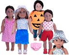 8 Free 18 Inch and American Girl Doll Clothes Patterns