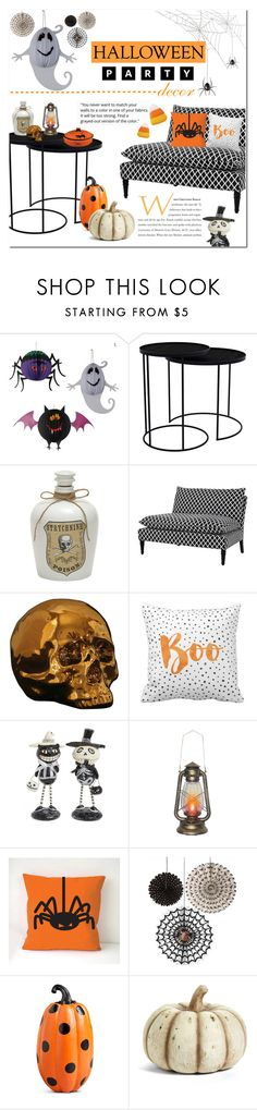 """""""Halloween Party Decor"""" by vickykirkpatrick ❤ liked on Polyvore featuring interior, interiors, interior design, home, home decor, interior decorating, Notre Monde, Eichholtz, Seletti and Allstate Floral"""