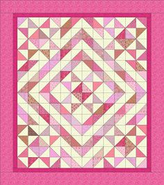 I like the borders on this. Seen at L' Fair Quilts: In the Pink, blogged 12-Jan 2013