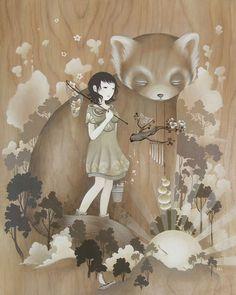Amy Sol. She paints Magic on Wood