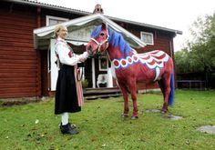 Paint your horse like a swedish dala horse :). Oh my!