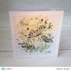 Uniko Studio stamps. Organic Wishes