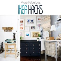 Well..if you love a great IKEA HACK...Then you are going to adore this collection of IKEA HACKS that includes an upholstered headboard...end tables and more