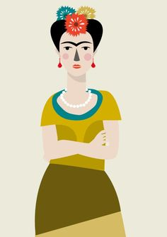 Frida Kahlo Print Different Sizes by JudyKaufmann on Etsy
