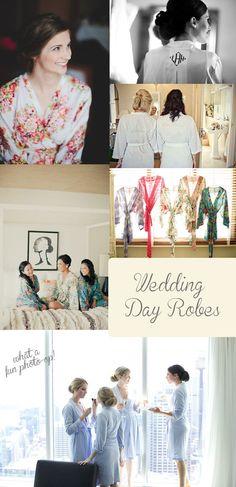 Wedding Day Robes {Wedding Ideas & Inspiration} - Storkie Blog