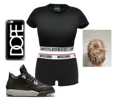 """""""i dont really know"""" by neca-xoxo ❤ liked on Polyvore featuring Moschino, CO, Retrò and Casetify"""