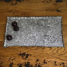 SWOON-LOUNGE Porcelain lace tray