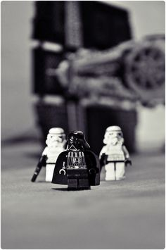 evil by freshpädda | LEGO Star Wars Darth Vader & Stormtrooper Minifigs