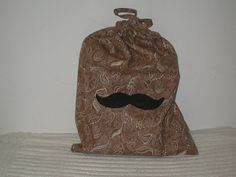 Medium Mustache Gift Wrapping Bag by CrazyAuntBettyBags on Etsy