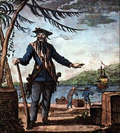 "Edward ""Blackbeard"" Teach (1680-1718) was a legend in his own time. Description from encyclopedia.com. I searched for this on bing.com/images"
