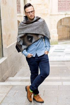 Mens Blanket Scarf - Jeffrey Herrero