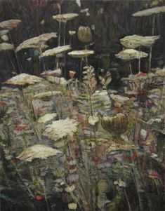 "Clare Grill, ""Queen Anne's Lace"", 2010, oil on linen, 25"" x 32"