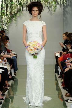 Stunning beaded wedding dress by Theia.