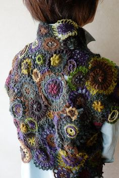 Beautiful Free Form Bolero Jacket #Crochet Inspiration!