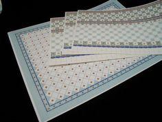 1//12th scale miniature dollhouse World/&Model faux marble floor tiles 34730