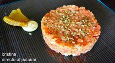 Tartar de salmón marinado. Receta