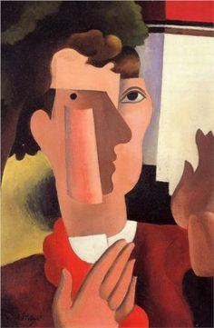 Robert de la Fresnaye (French, 1885-1925)  Man with a Red Kerchief  1922, oil on canvas, private collection