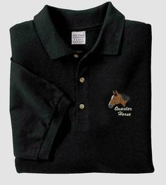 http://www.horsetee.com/quarter-horse-embroidered-polo-custom-stable-or-horse-name-included/