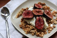 Baked Figs Over Yogurt and Granola - such a great way to start the day!
