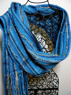 Soft lovely shawl - this elegant shawl will coordinate with the most dressy outfit or a casual pair of jeans and a blouse.    I wove this wrap in