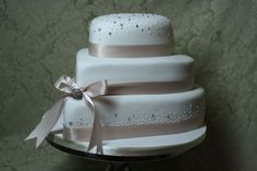 Stacked Hearts with Champagne Ribbon and bubbles