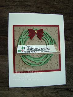 Holly Berry Happiness Christmas Card #lakeshorestamping #stampinup…