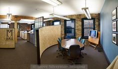 Architectural office interior - panoramic.