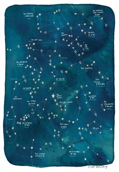 Giclée Limited Edition Signed Print of 'Star-Crossed Constellations' by Emma Yarlett