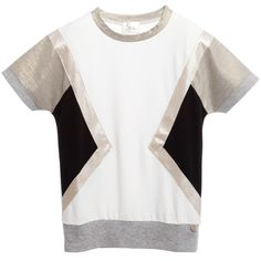 Illudia Girls White Geometric T-Shirt