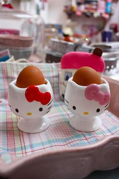 Hello Kitty Egg Cups by kbo, via Flickr