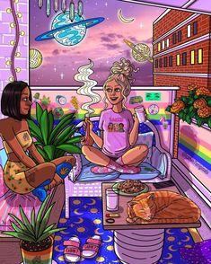 Christmas Aesthetic Wallpaper, Christmas Wallpaper, Psychadelic Art, Dope Cartoon Art, Stoner Art, Weed Art, Trippy Wallpaper, Black Love Art, Night Vibes