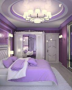 Living room ideas purple bedroom decor ideas for 2019 Purple Bedroom Decor, Purple Bedrooms, Room Ideas Bedroom, Bedroom Colors, Home Decor Bedroom, Modern Bedroom, Bedroom Black, Small Bedrooms, Trendy Bedroom