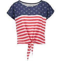 TWINTIP Tshirt z nadrukiem dark blue/red