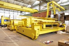 50/10 t Gantry crane Kit for PTC Group LTD Manufacturing process of two similar gantry crane Kit, both with 38.5 m span and 2 hoists, the main with 26.5 m HOL and the auxiliary with 29 m HOL.  Client: PTC Group LTD.  Installation Location: Dubai  GH Cranes & Components