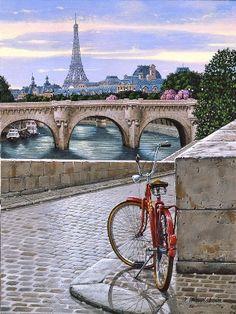 The cobbled bank of the Seine ~ Paris, France.